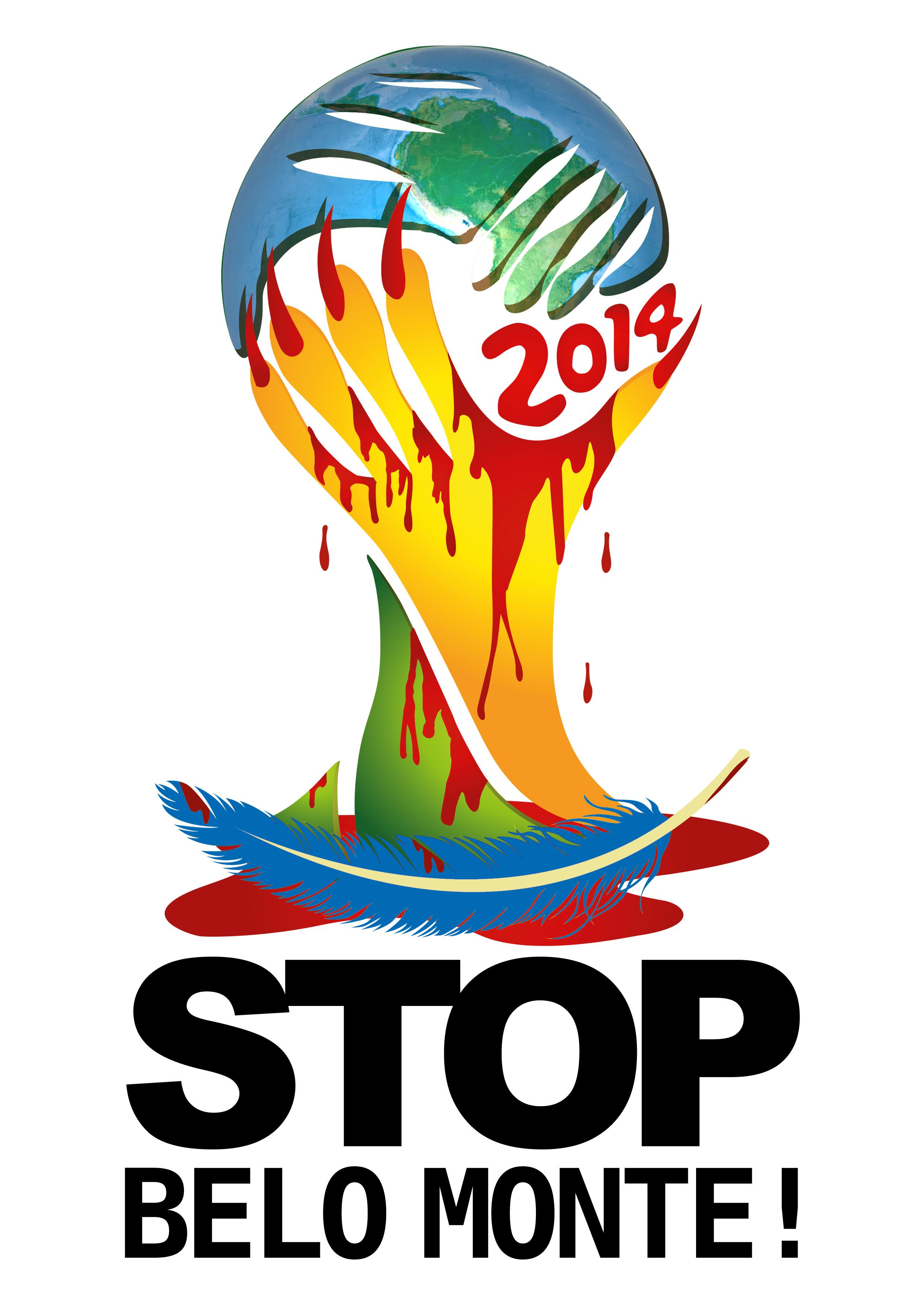 Un logo ciblant la coupe du monde 2014 d voil pendant la journ e internationale de mobilisation con - Carte coupe du monde 2014 ...