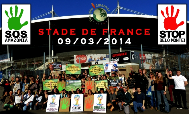 Séance photo au Stade de France, le 9 mars 2014
