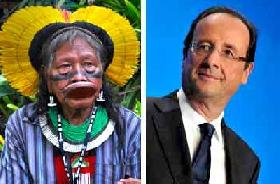 Chief RAONI - Message to the President of the French Republic, François Hollande
