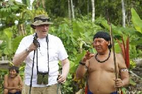 The King of Norway is visiting a Yanomami village