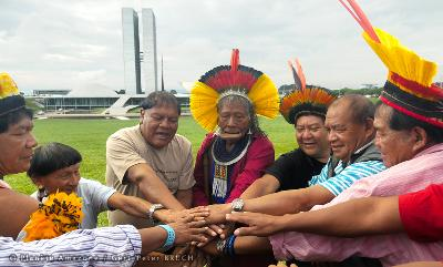 Chief Raoni Metuktire joined by other important Amazonian leaders to launch climate sentinel alliance in run up to COP 21