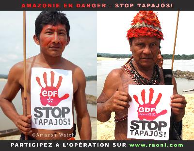 VISITE EXCEPTIONNELLE EN EUROPE DE DEUX FIGURES EMBLÉMATIQUES DE LA LUTTE CONTRE LES GRANDS BARRAGES AMAZONIENS